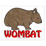 Wombat Logo Small Poster