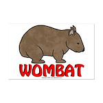 Wombat Logo Mini Poster Print