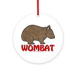 Wombat Logo Ornament (Round)