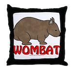 Wombat Logo Throw Pillow