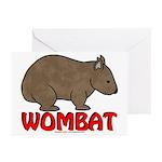 Wombat Logo Greeting Cards (Pk of 10)