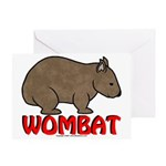 Wombat Logo Greeting Card