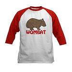 Wombat Logo Kids Baseball Jersey