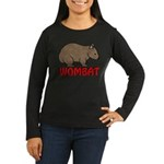 Wombat Logo Women's Long Sleeve Dark T-Shirt