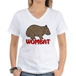 Wombat Logo Women's V-Neck T-Shirt