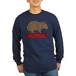 Wombat Logo Long Sleeve Dark T-Shirt