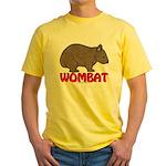 Wombat Logo Yellow T-Shirt