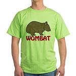 Wombat Logo Green T-Shirt