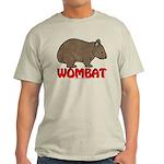 Wombat Logo Tee Shirt Light Colored