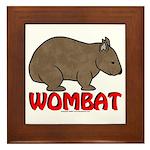 Wombat Logo Framed Tile
