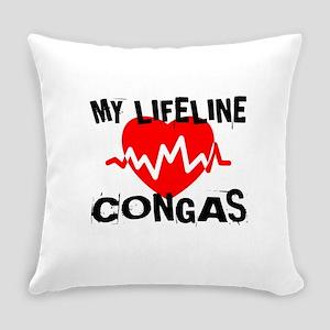 My Lifeline Congas Everyday Pillow