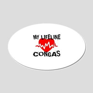 My Lifeline Congas 20x12 Oval Wall Decal