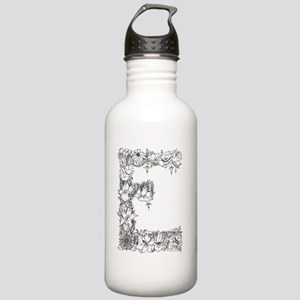 Floral Letter E Stainless Water Bottle 1.0L