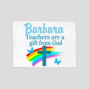 PRAYING TEACHER 5'x7'Area Rug