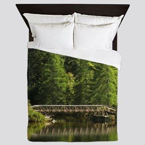 Forest Bridge Queen Duvet