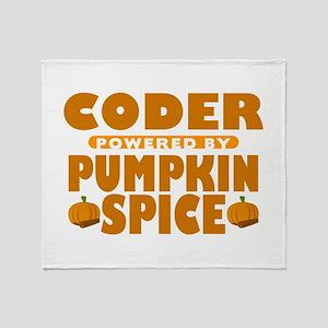 Coder Powered by Pumpkin Spice Stadium Blanket