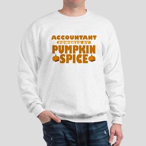Accountant Powered by Pumpkin Spice Sweatshirt