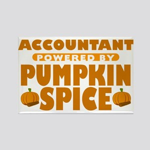 Accountant Powered by Pumpkin Spice Rectangle Magn