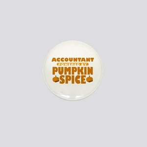 Accountant Powered by Pumpkin Spice Mini Button