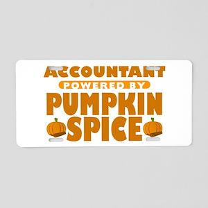 Accountant Powered by Pumpkin Spice Aluminum Licen