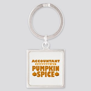 Accountant Powered by Pumpkin Spice Square Keychai