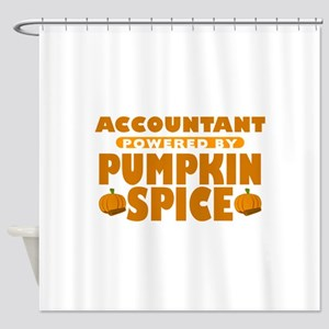 Accountant Powered by Pumpkin Spice Shower Curtain
