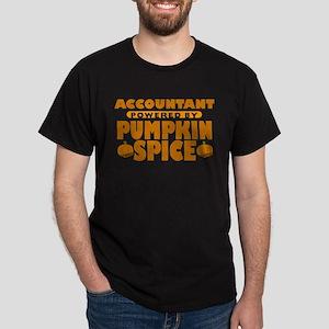 Accountant Powered by Pumpkin Spice Dark T-Shirt
