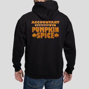 Accountant Powered by Pumpkin Spice Dark Hoodie