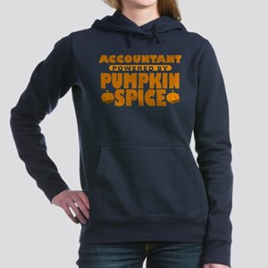 Accountant Powered by Pumpkin Spice Woman's Hooded