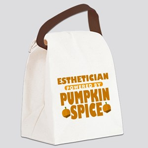 Esthetician Powered by Pumpkin Spice Canvas Lunch