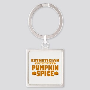 Esthetician Powered by Pumpkin Spice Square Keycha