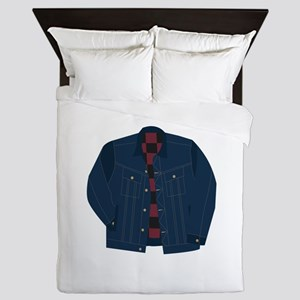 Trucker Jean Jacket Queen Duvet