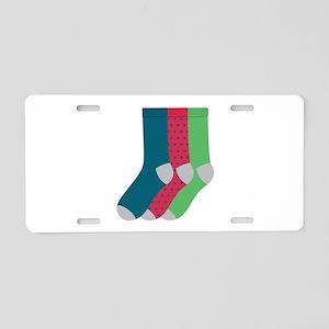 Socks Aluminum License Plate