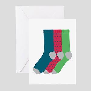 Socks Greeting Cards