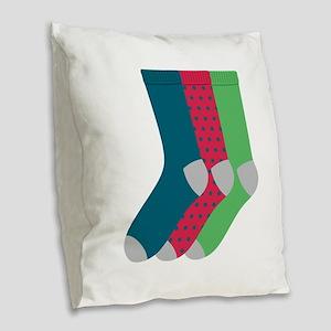 Socks Burlap Throw Pillow