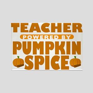 Teacher Powered by Pumpkin Spice Rectangle Magnet