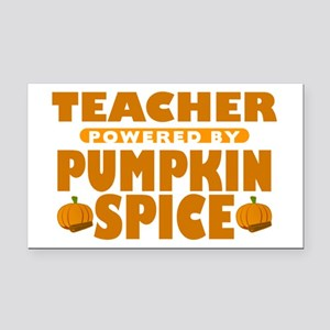 Teacher Powered by Pumpkin Spice Rectangle Car Mag