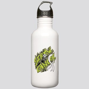 -Screw Lung Cancer 4C Stainless Water Bottle 1.0L