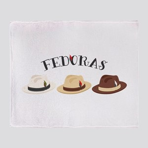 Fedora Hats Throw Blanket
