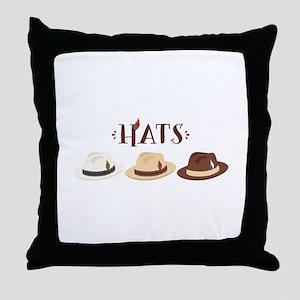 Fedora Hats Throw Pillow