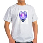 Valentine Ace of Cups Ash Grey T-Shirt