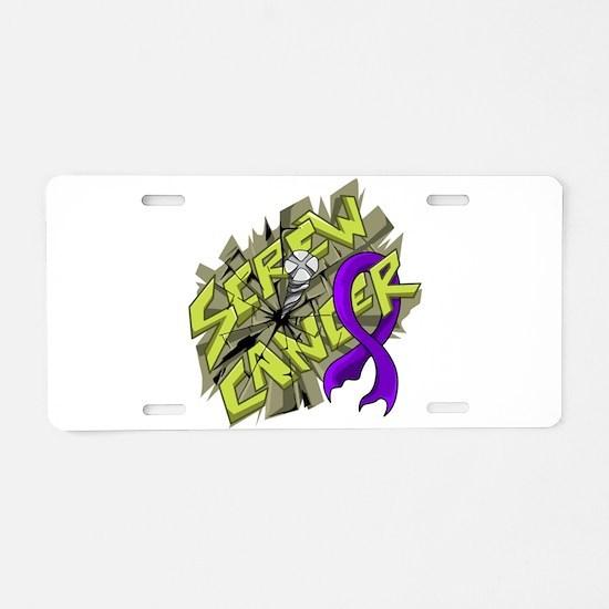 -Screw Leiomyosarcoma 4C Aluminum License Plate
