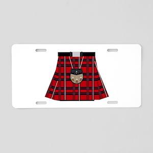 Scottish Kilt Aluminum License Plate