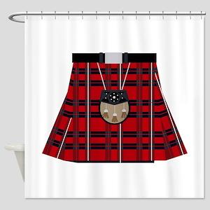 Scottish Kilt Shower Curtain