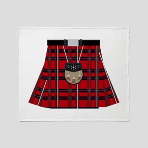 Scottish Kilt Throw Blanket