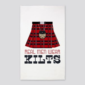 Real Men Wear Kilts Area Rug