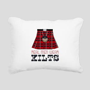 Real Men Wear Kilts Rectangular Canvas Pillow