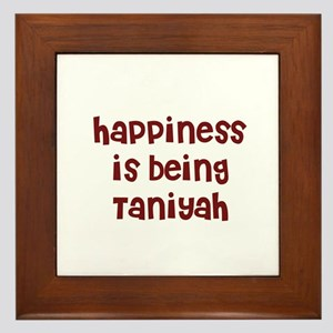 happiness is being Taniyah Framed Tile