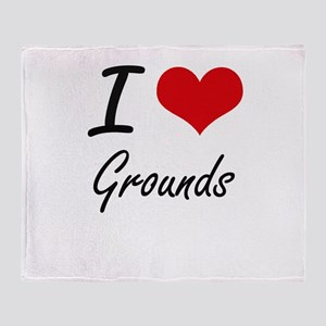 I love Grounds Throw Blanket