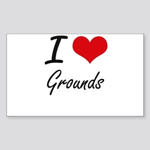I love Grounds Sticker